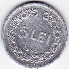 Monede Romania - 5 lei 1949
