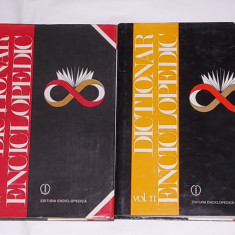 DICTIONAR ENCICLOPEDIC A-C, D-G- DOUA VOLUME, CARTONATE, SUPRACOPERTA