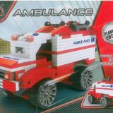 CONSTRUCTII - AMBULANTA - 190 PIESE TIP LEGO - JUCARIE COPII 2564 - NOU
