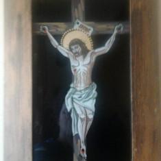 Obiecte Cult - Icoana pe sticla - Iisus pe cruce