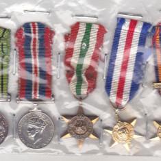 Ordin/ Decoratie - Bnk md Marea Britanie - grup 5 miniaturi decoratii militare WW II