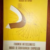 Fenomene meteo - climatice induse de configuratia Carpatilor in Campia Romana - N.I.Bordei, edit. Academiei 1988, 174 pag.