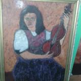 Tablou - Pictura ulei pe carton, lucrare de colectie, semnata dumitrescu.REDUCERE