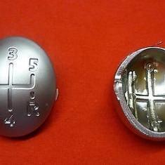 Nuca schimbator - Capac ornament schimbator 5+1 viteze cromat Renault Modus