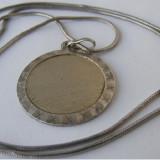 Lant vechi din argint cu medalion (1) - de colectie - Lantisor argint