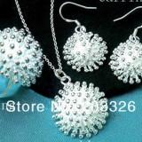Bijuterii Argint: Set Lantisor + Cercei + Inel Fashion Spike 2 - Set bijuterii argint