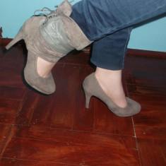 Vand pantofi dama - Pantof dama Zara, Marime: 38, Culoare: Gri, Gri
