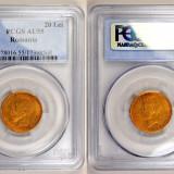 Monede Romania - Ticuzz - Romania 20 Lei 1906 - moneda de aur - PCGS AU55 - RAR 15.000 exemplare