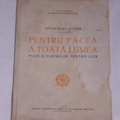 APOSTOLAT SOCIAL- PENTRU PACEA A TOATA LUMEA- PILDE SI INDEMNURI PENTRU CLER- CONTINE DEDICATIA PATRIARHULUI JUSTINIAN - Carti ortodoxe Altele