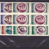 Aniv culturale I, Bloc de 4, nr lista 631, Romania. - Timbre Romania
