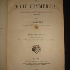 Carte veche - A. BOISTEL - PRECIS DE DROIT COMMERCIAL {1884}