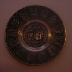 Farfurie metal decorativa 1