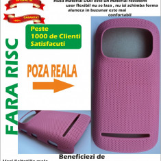 Husa Nokia 808 PureView Case material dur MESH Roz !!!LICHIDARE DE STOC!!! - Husa Telefon