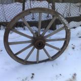 roti de caruta rustica din lemn