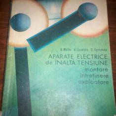 Carte tehnica - APARATE ELECTRICE DE INALTA TENSIUNE -MATHE CURELANU OGREZEANU