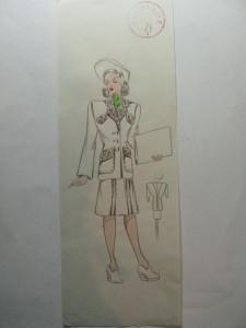 45 - MODA FEMININA VINTAGE ANII 1930 - 40. CROCHIU EXECUTAT MANUAL CREIOANE COLORATE - DIMENSIUNI 30 X 11CM foto