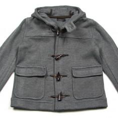 Palton barbati Zara, M, Lana - Palton / Geaca gri Zara Man cu gluga - masura M (Medium) - NOUA CU ETICHETA ! Pret magazin Anglia £60 !