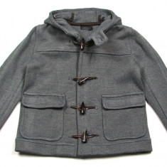 Palton / Geaca gri Zara Man cu gluga - masura M (Medium) - NOUA CU ETICHETA ! Pret magazin Anglia £60 ! - Palton barbati Zara, M, Lana