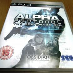 Joc Alpha Protocol, PS3, original, alte sute de jocuri! - Jocuri PS3 Sega, Shooting, 16+, Single player