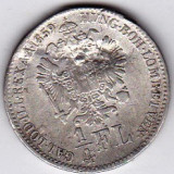 Austria Ungaria 1/4 Florin 1859 B argint, cu defect