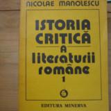 Nicolae Manolescvu-istoria critica a literaturii romane - Filosofie
