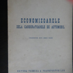 ECONOMIZOARELE DE LA CARBURATOARELE DE AUTOMOBIL-E.A.Ciudacov - Carti auto