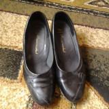 Pantofi dama, Marime: 39.5, Negru - Pantofi piele dama