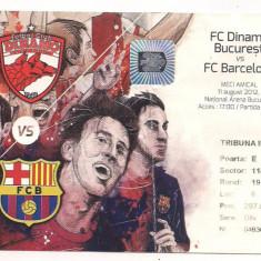 Bilet meci - Bilet de meci-FC Dinamo Bucuresti-FC Barcelona 11 august 2012