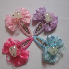 Clama de par Copii - Clame metalice cu Hello Kitty, NOI, 4 culori, pretul este pe bucata