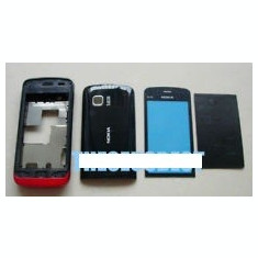 Vand Carcasa Nokia C5-03 Neagra Negru Black cu Rosu Noua Completa