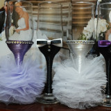 Decoratiuni nunta - Pahare miri / nasi
