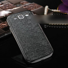 Carcasa Glamour NEGRU + ARGINTIU pentru Samsung Galaxy S3 / I9300