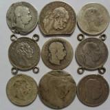 Lot  monede vechi austro-ungare argint, tocite, 53,4 grame