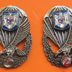 Set complet insigne militare, parasutist militar, specialist de clasa (aviatie) - Ordin/ Decoratie