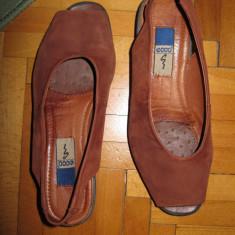 Pantofi tip sandale, marca ECCO, masura 37 - Mocasini dama Gabor, Culoare: Maro