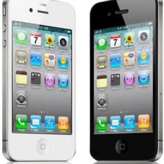 iPhone 4 Apple 32 gb cu folie protectie ecran, Negru, Orange