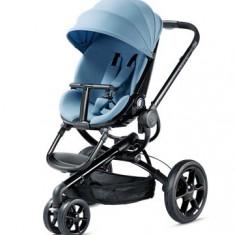 Carucior Quinny Moodd + Landou Quinny Foldable - Carucior copii 2 in 1 Quinny, 6-12 luni, Pliabil, Albastru, Maner reversibil