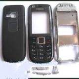Vand Carcasa Nokia 3120 Classic Clasic Noua Completa cu Rama Corp Mijloc, Tastatura, Rama Fata si Capac Spate Baterie Neagra Black Negru