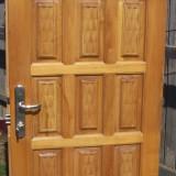 Usa lemn masiv capitonat pentru exterior sau birou / cabinet