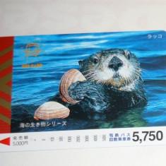 Cartela / Card Japonia - NATURA, ANIMALE - CASTOR -   2+1 gratis toate licitatiile - RBK2396