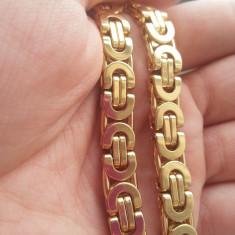 Lantisor inox - Set lant si bratara din inox Placat cu Aur--- LIVRARE GRATUITA