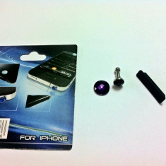SET FASHION Jack Casti+Intrare Cablu+BUTON HOME Apple iPhone 3G 3GS 4 4S Kit Praf - Bijuterii Telefon