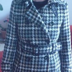 Haina dama Zara - Palton dama Zara, Marime: 40, Gri
