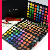 Trusa machiaj profesionala 180 culori MAC farduri mate sidefate neutre colorate pigmentate + CADOU Eyeliner MAC culoarea negru Waterproof PROMOTIE !