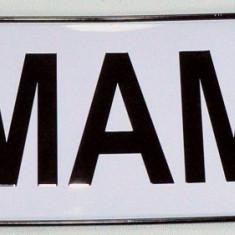Ornament - numar de inmatriculare personalizat - de pus in luneta - mama - - Ornament Auto