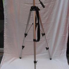 TREPIED VIDEO SAGA PROFESIONAL ST90 cap MANFROTTO 128RC - Trepied Aparat Foto Manfrotto, Cu cap
