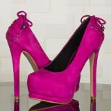 Pantofi STARSHINERS model Christian Louboutin (cadou Craciun) - Pantofi dama, 39, Roz