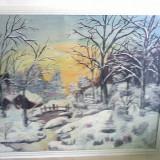 Pictura-peisaj de iarna - Pictor roman, Peisaje, Realism