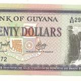 Bancnota Straine - GUYANA BANCNOTA 20 DOLARI