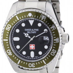 Ceas de LUX - SPORT SWISS ALPINE MILITARY ( design ROLEX ), mecanism elvetian RONDA, WATER RESISANT : 10 ATM = 100m Inot ~ ! ! ! - Ceas barbatesc Swiss Military, Inox, Analog